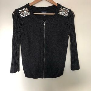 American Eagle Embellished Shoulder Cardigan